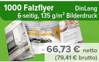 1000 Falzflyer für 52,81 € günstig drucken lassen