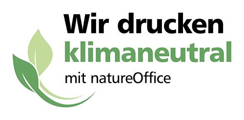 Logo Klimaneutraler Druck mit NatureOffice